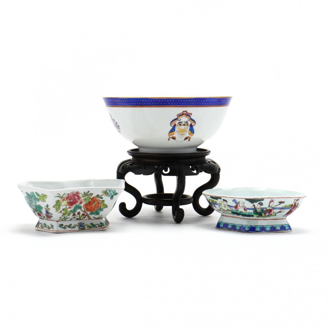Three Contemporary Chinese Export Porcelain Bowls