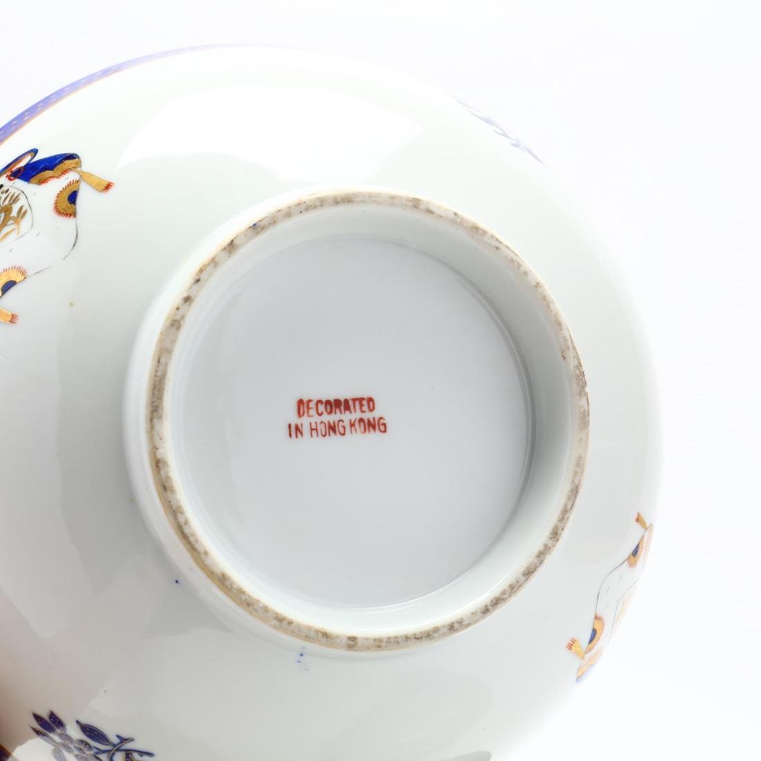 Three Contemporary Chinese Export Porcelain Bowls - 7
