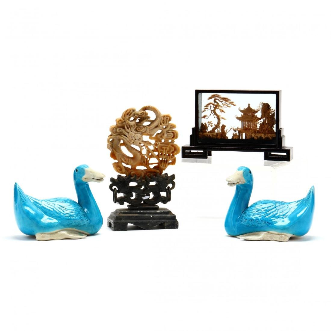 Chinese Decorative Accessory Grouping