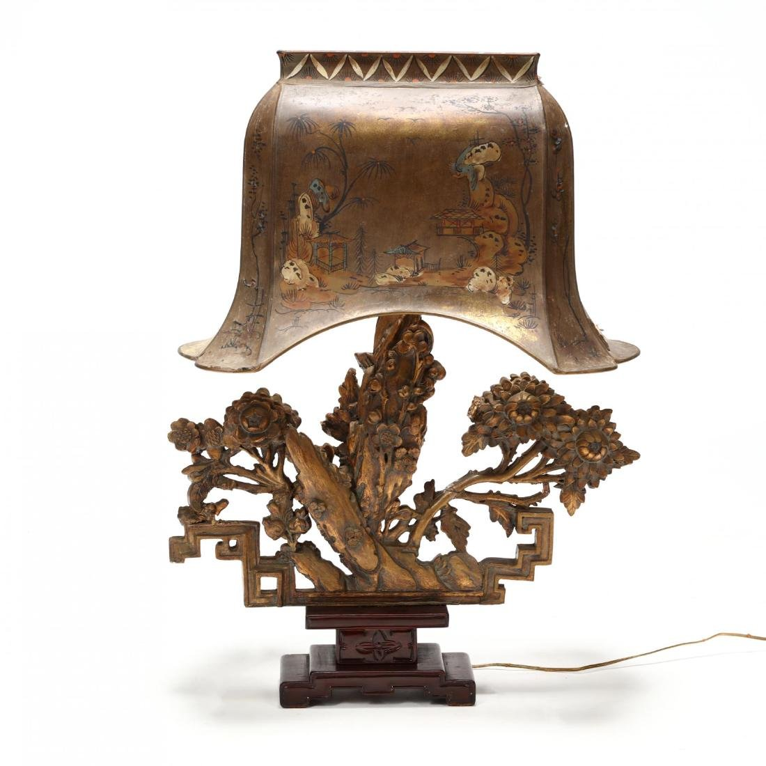 Chinese Architectural Element Table Lamp