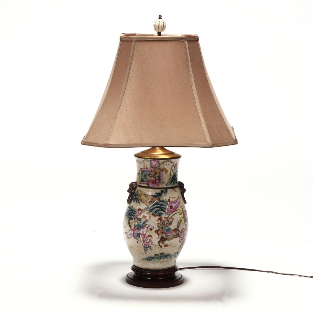 Chinese Export Porcelain Table Lamp