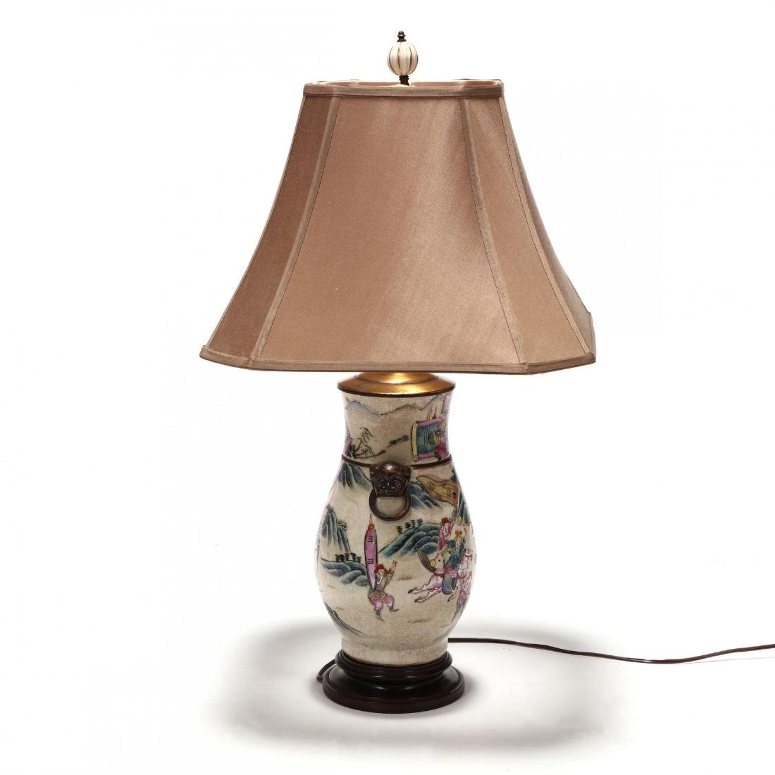Chinese Export Porcelain Table Lamp - 3