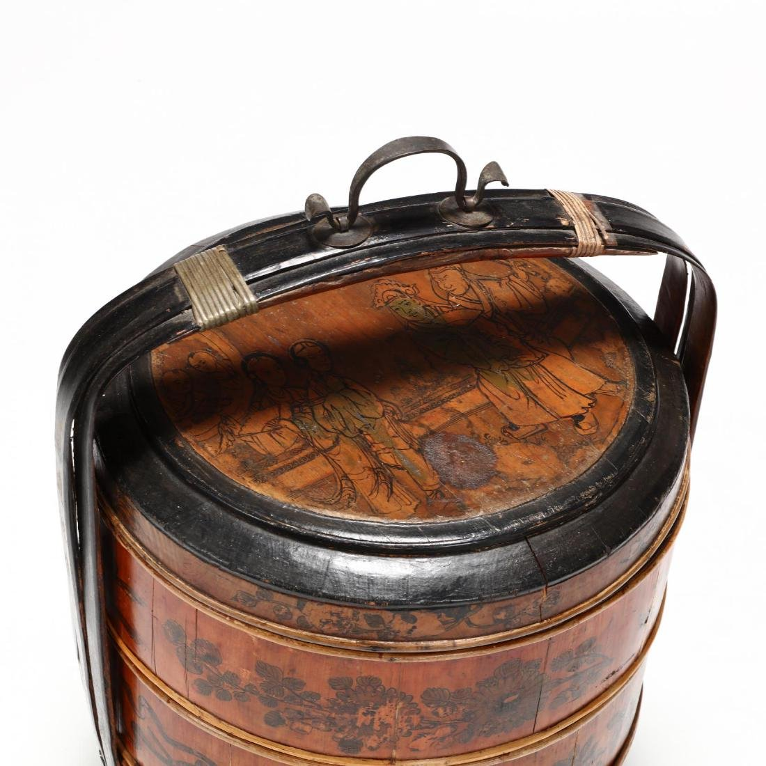 Chinese Lacquered Wedding Basket - 2