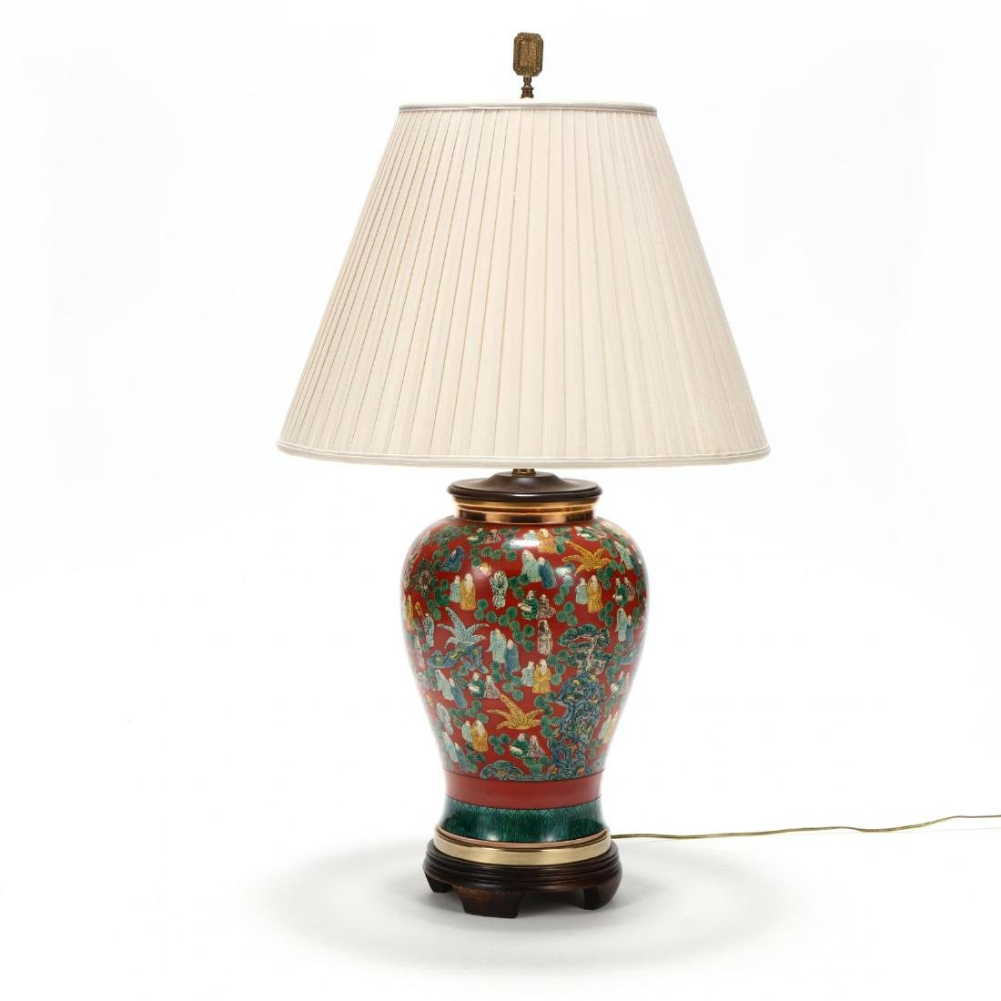 Chinese Export Style Large Table Lamp