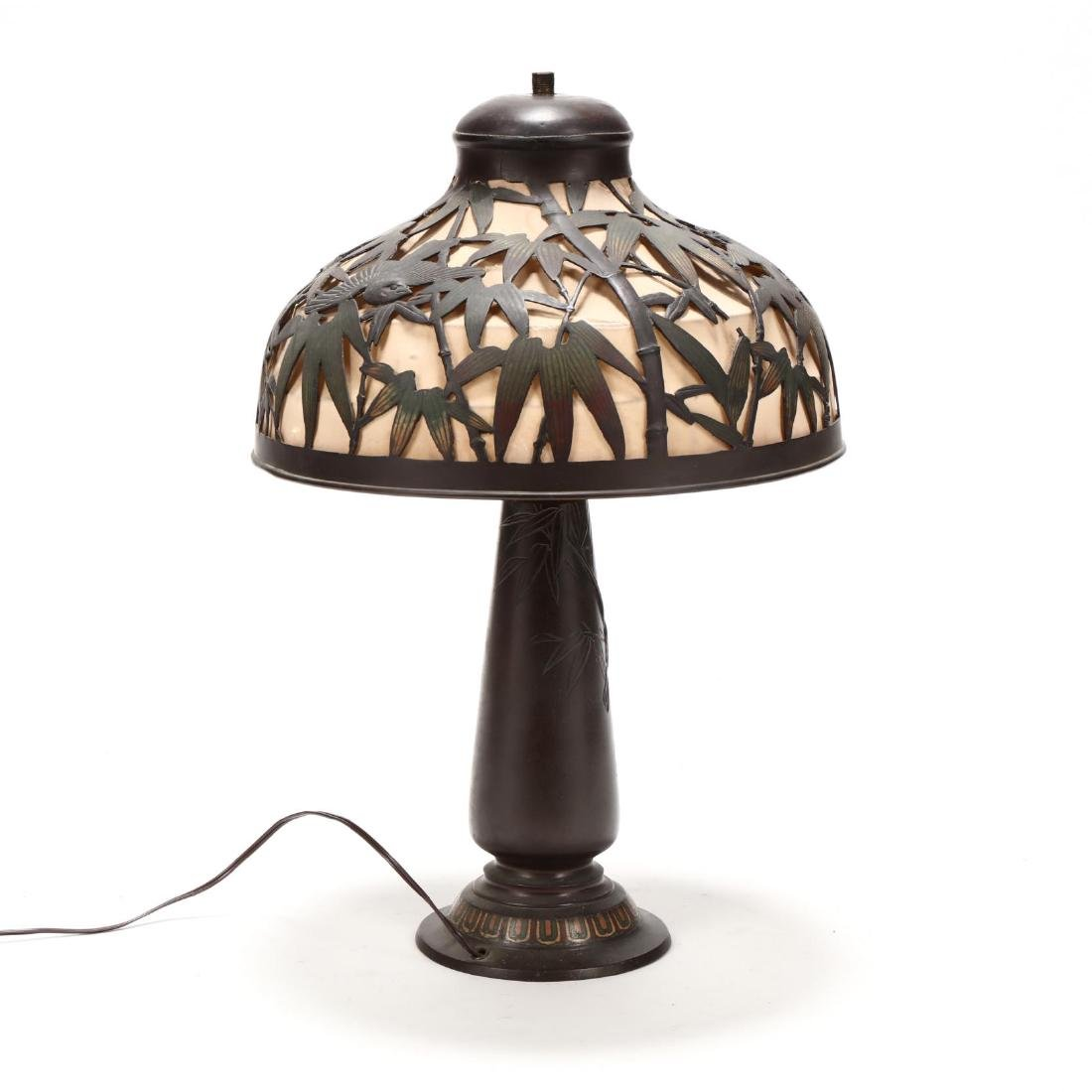 Antique Japanese Bronze Table Lamp - 3