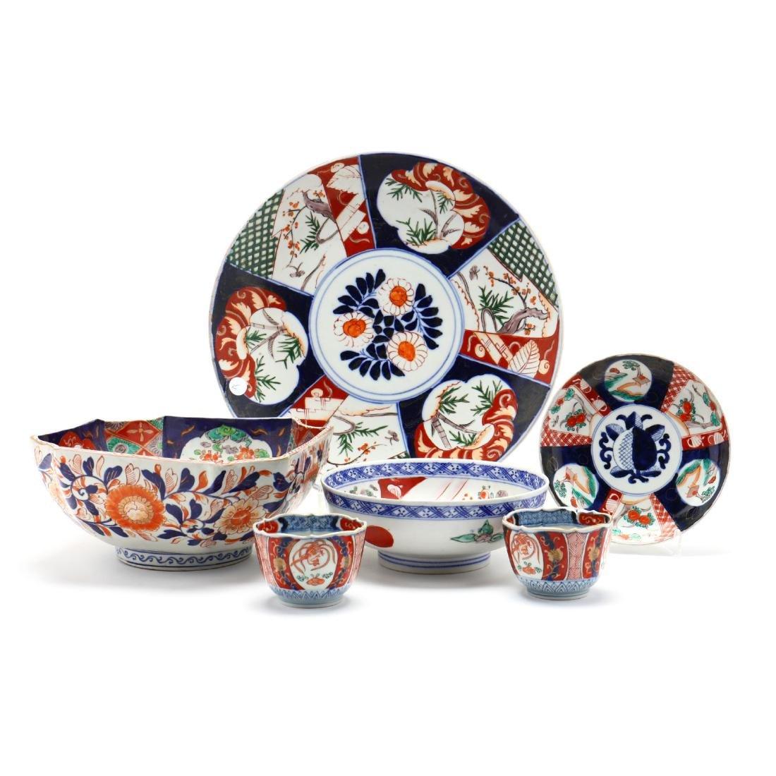 Six Japanese Imari Items