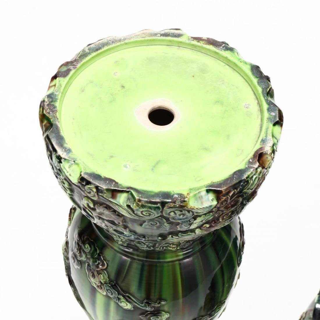 Japanese Sancai Glazed Jardiniere on Pedestal - 4