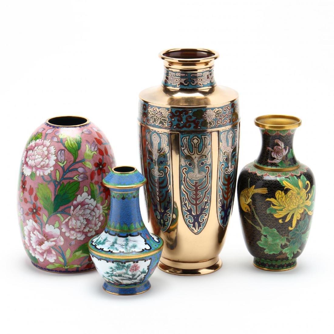Four Asian Enameled Vases - 2