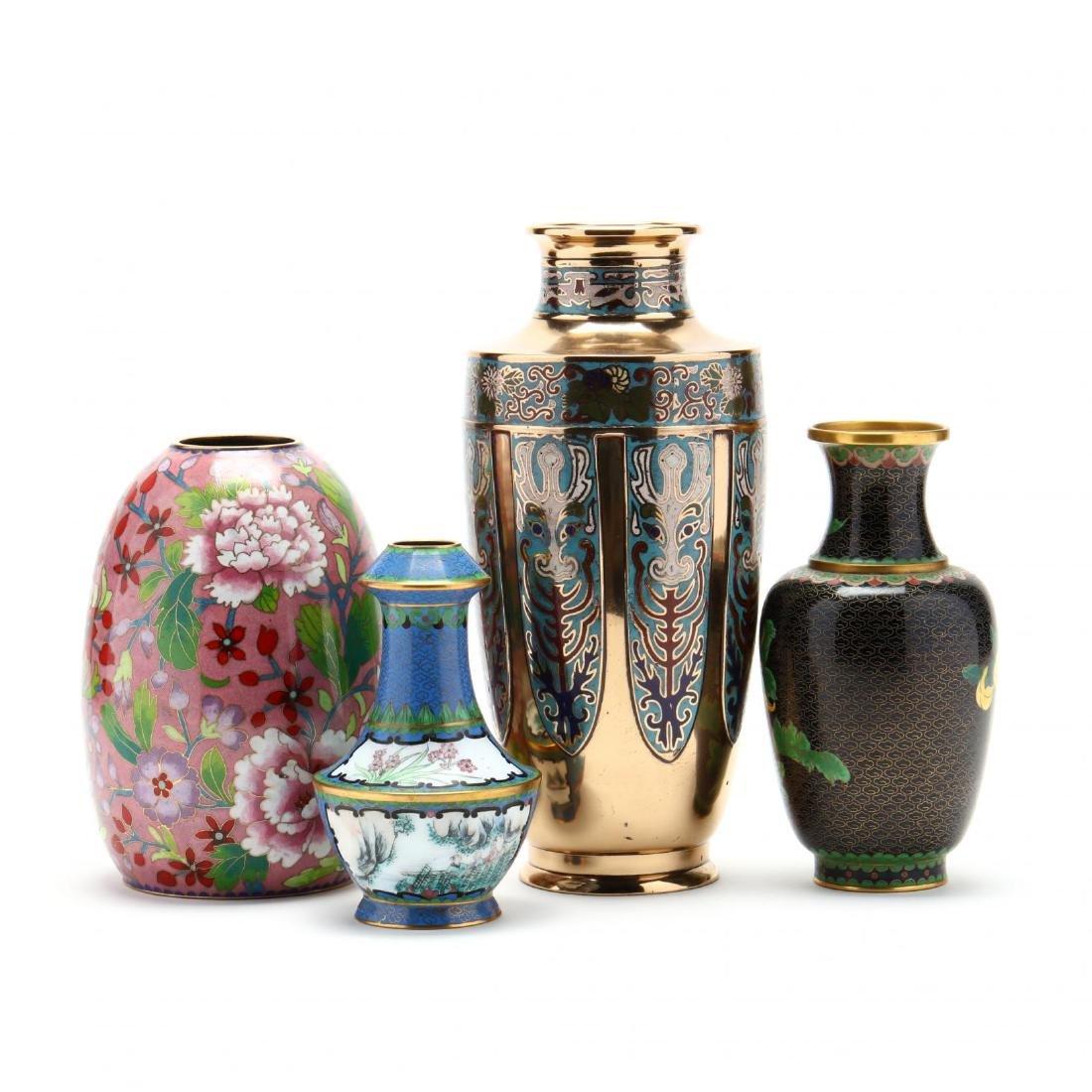 Four Asian Enameled Vases - 3