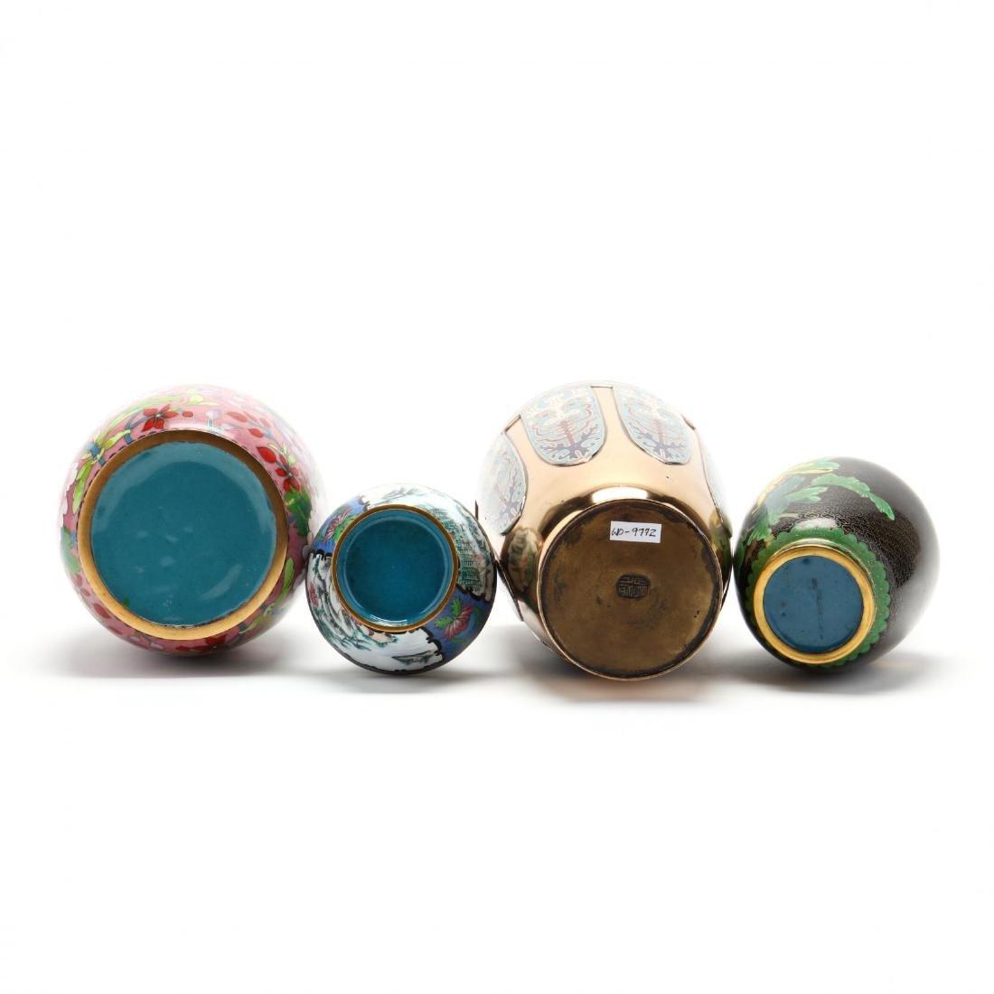 Four Asian Enameled Vases - 5