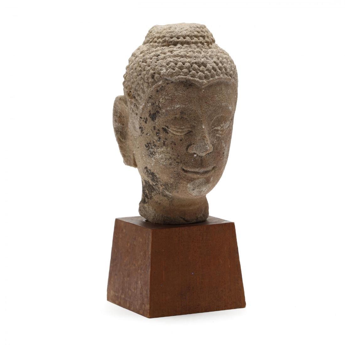 A Stone Buddha Head