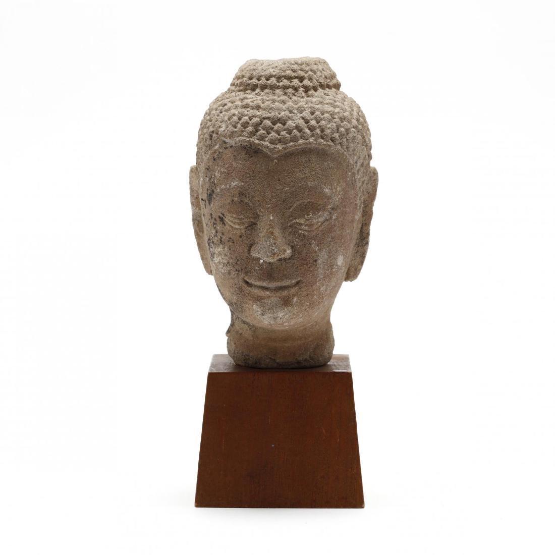 A Stone Buddha Head - 3