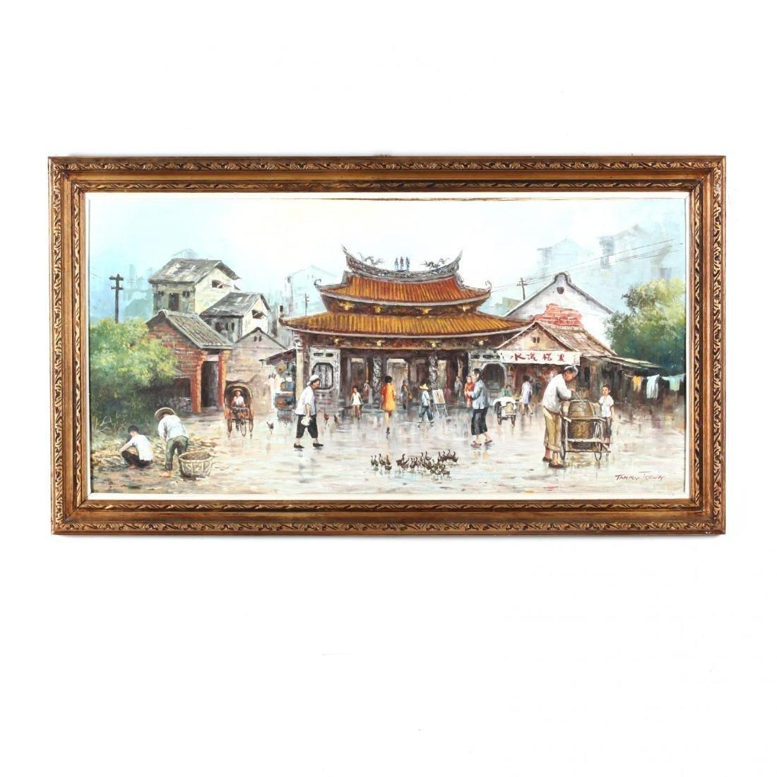 Tammy Tseng (Chinese, 20th Century), Market Scene