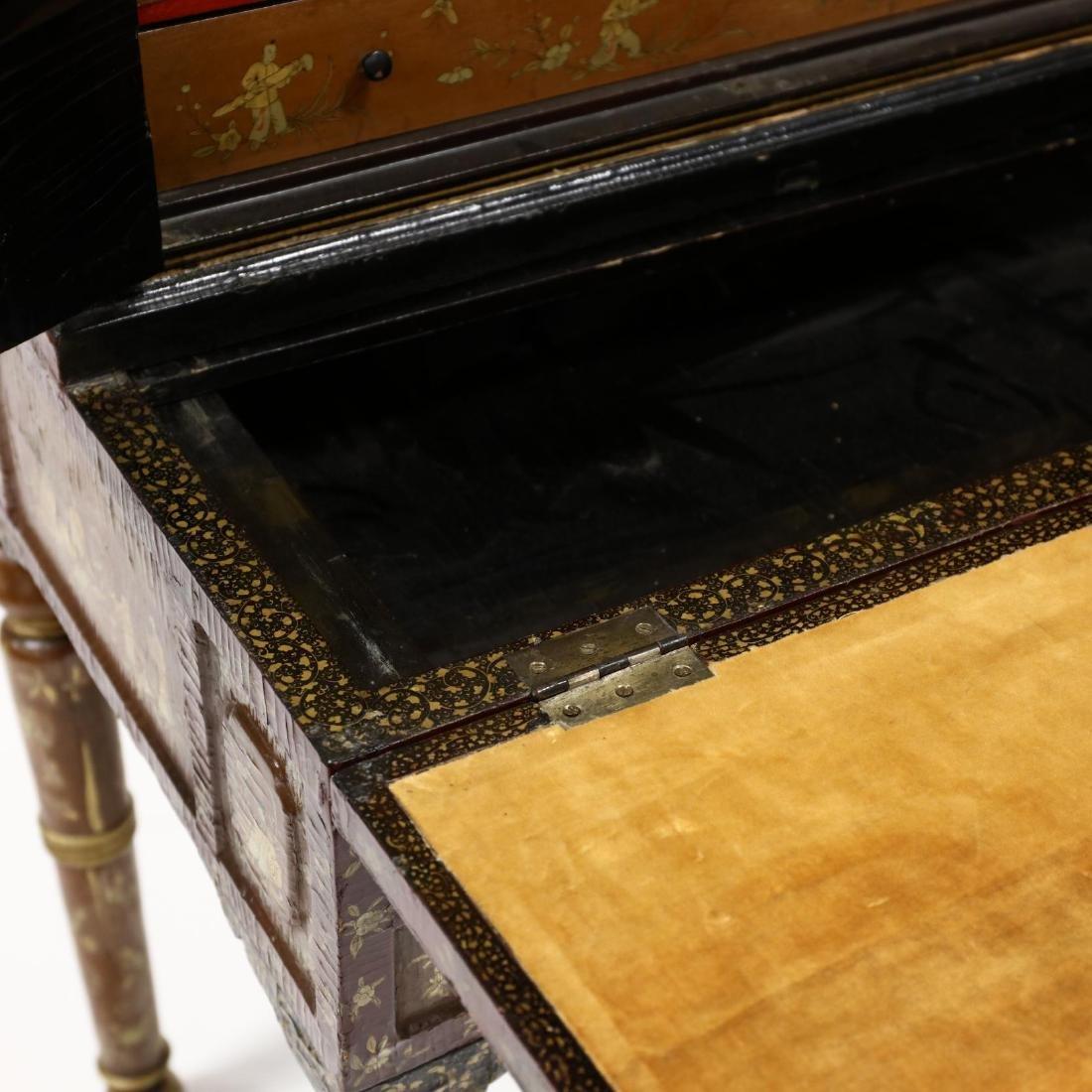 Chinese Diminutive Lacquered Secretary Bookcase - 6