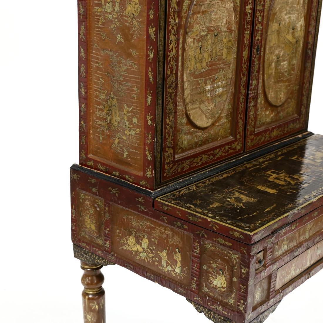 Chinese Diminutive Lacquered Secretary Bookcase - 7
