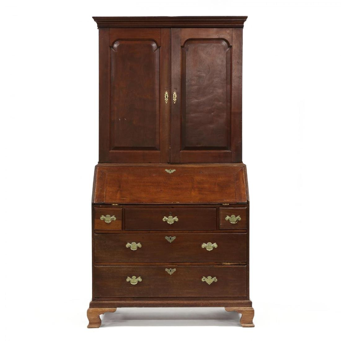 George III Walnut Secretary Bookcase