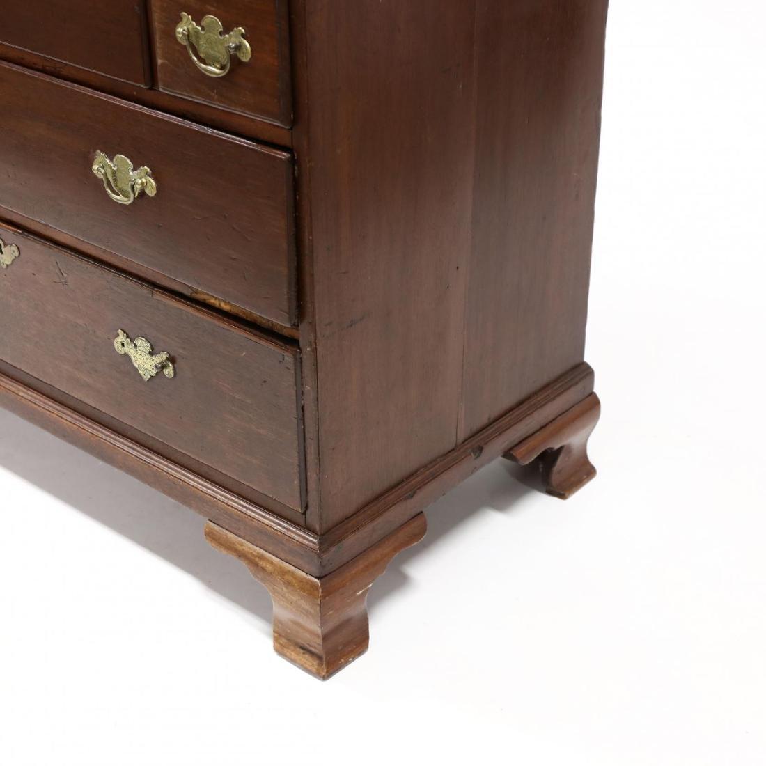 George III Walnut Secretary Bookcase - 2