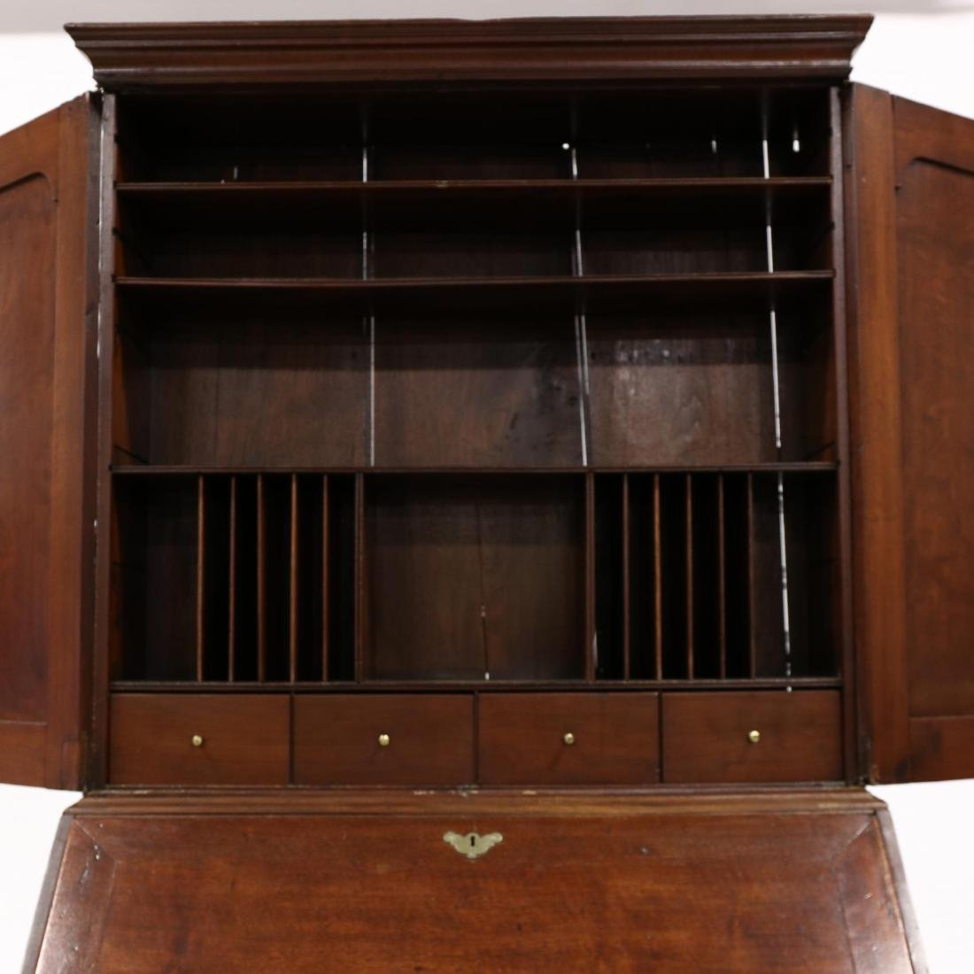 George III Walnut Secretary Bookcase - 5