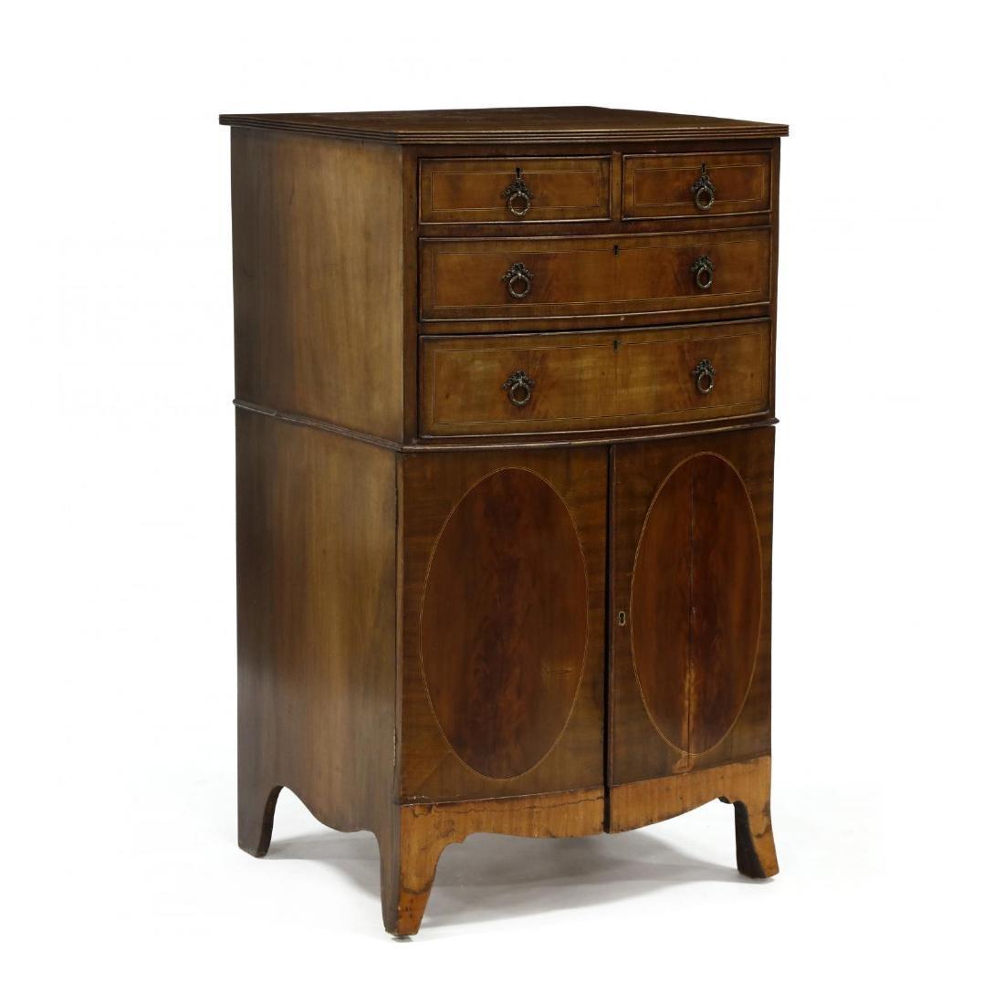 George III Mahogany Inlaid Dressing Cabinet