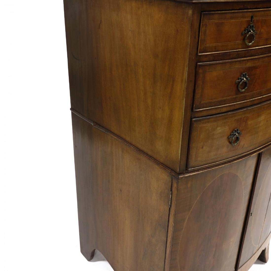 George III Mahogany Inlaid Dressing Cabinet - 3