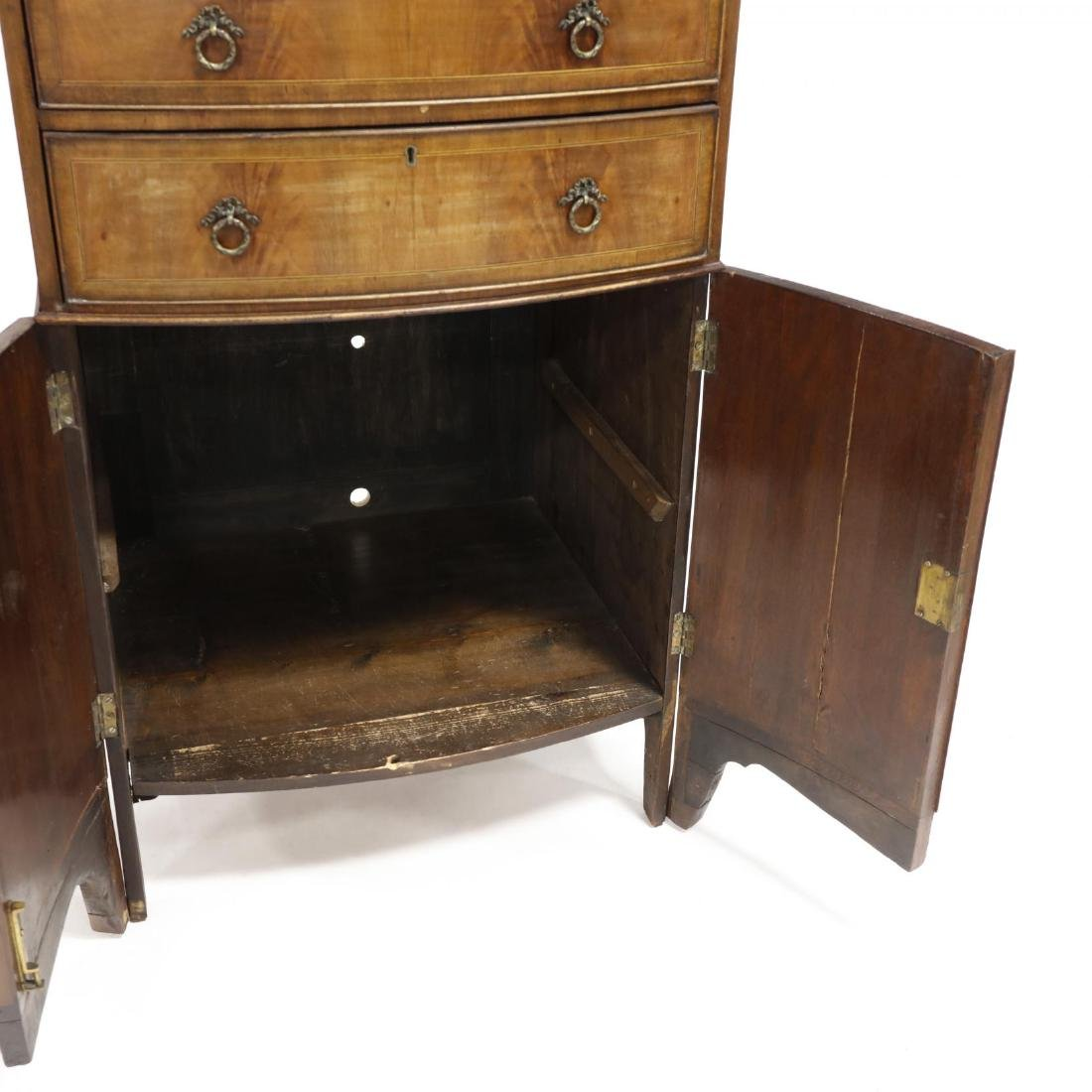 George III Mahogany Inlaid Dressing Cabinet - 4