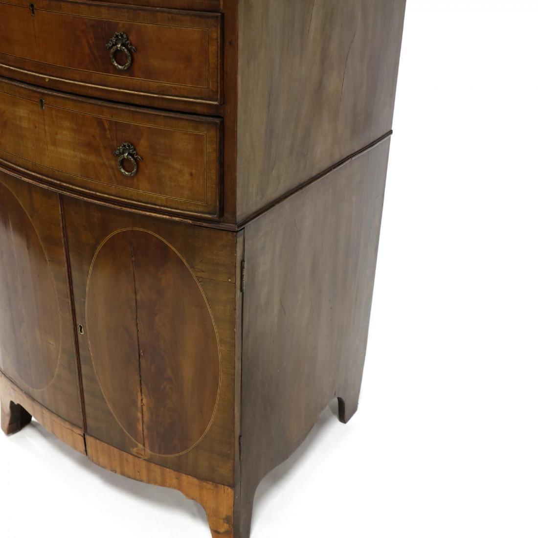 George III Mahogany Inlaid Dressing Cabinet - 5