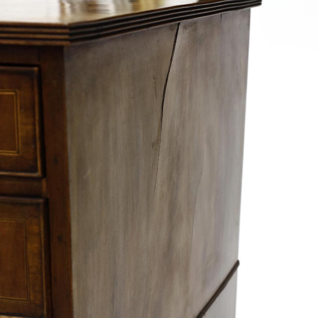 George III Mahogany Inlaid Dressing Cabinet - 6