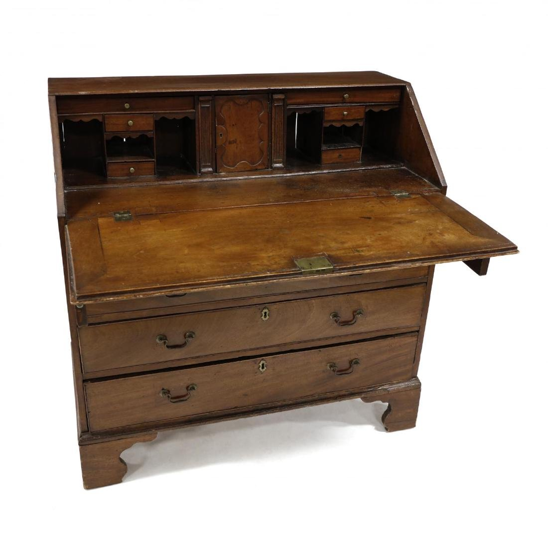 George II Mahogany Slant Front Desk - 3