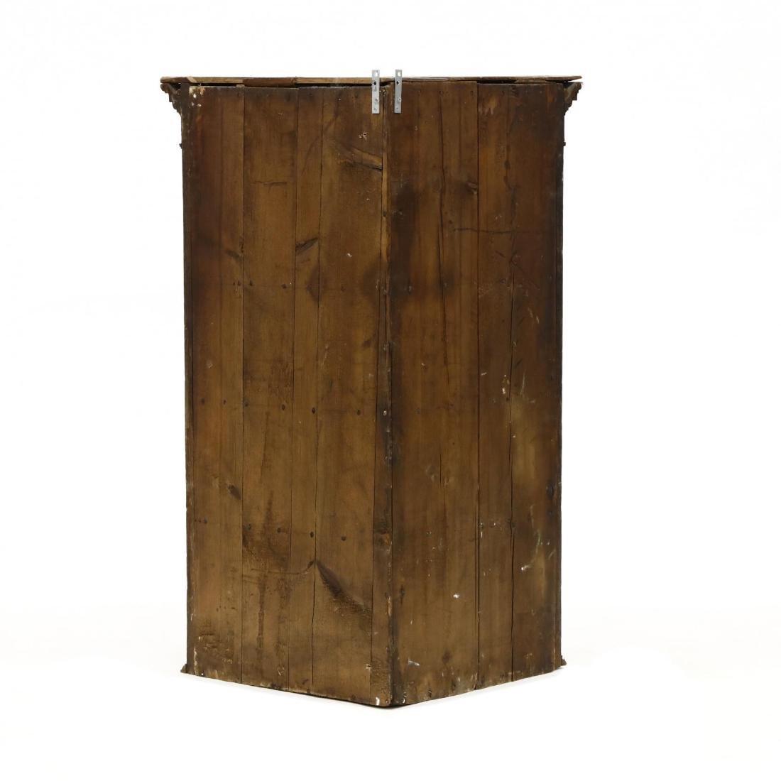 George III Carved Oak Hanging Corner Cupboard - 3