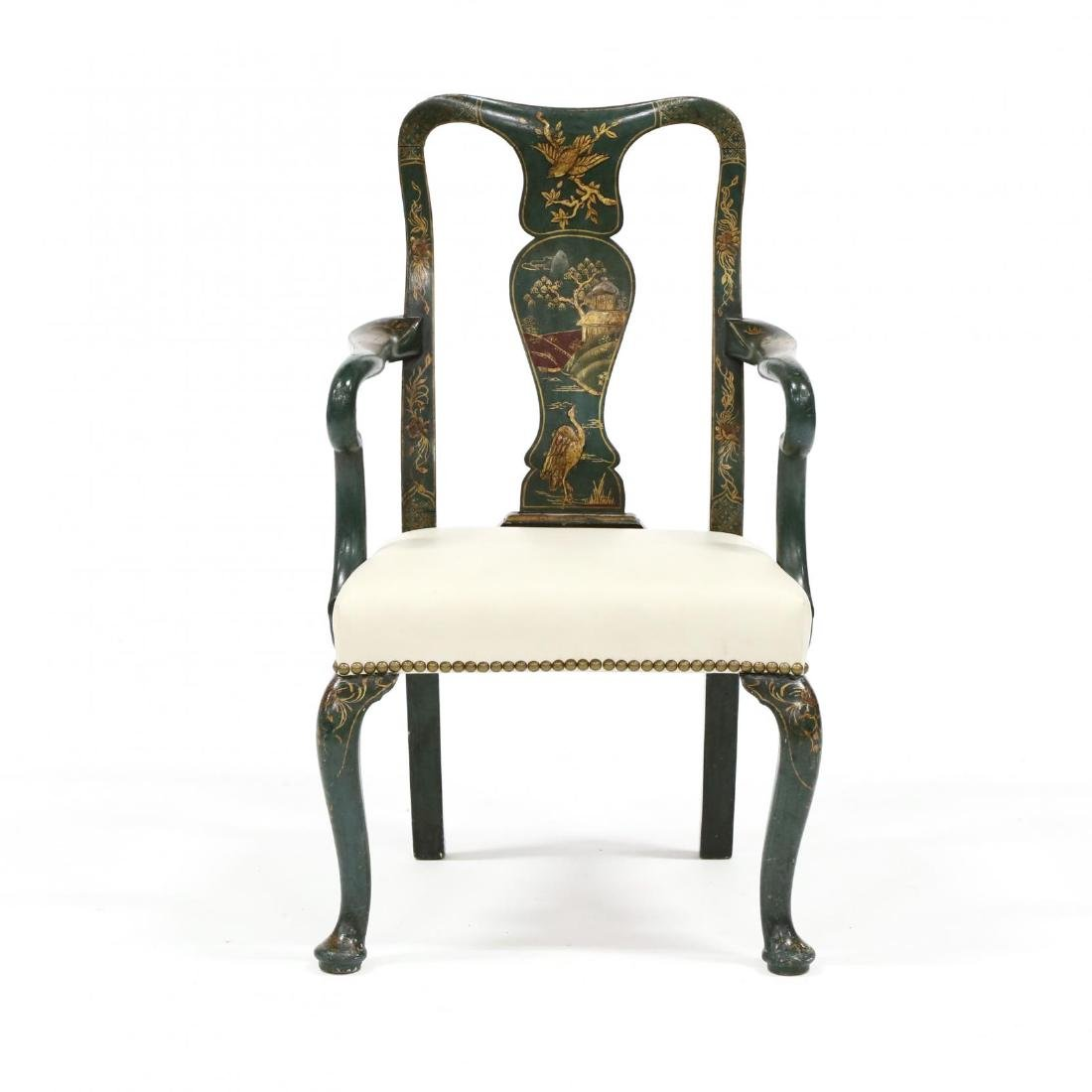 Antique Child's Chinoiserie Arm Chair