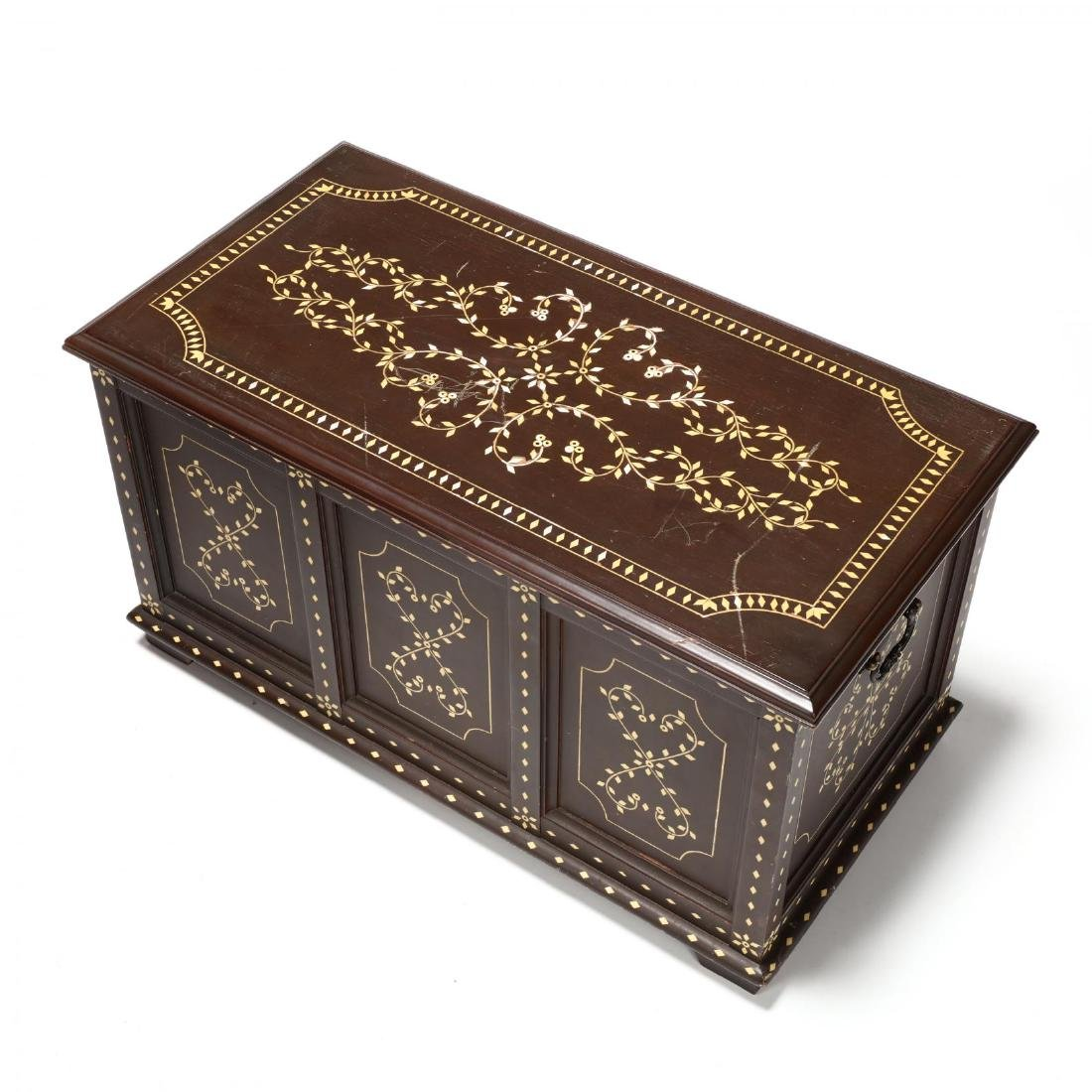 Pair of Anglo Indian Inlaid Diminutive Blanket Chests - 2