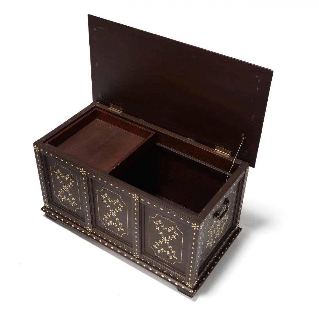 Pair of Anglo Indian Inlaid Diminutive Blanket Chests - 4