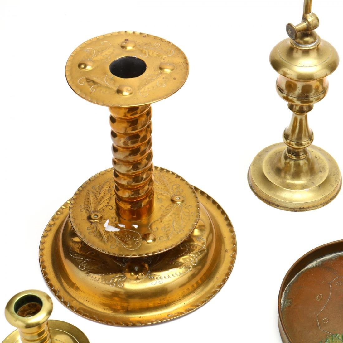 Nine Brass Candlesticks - 2