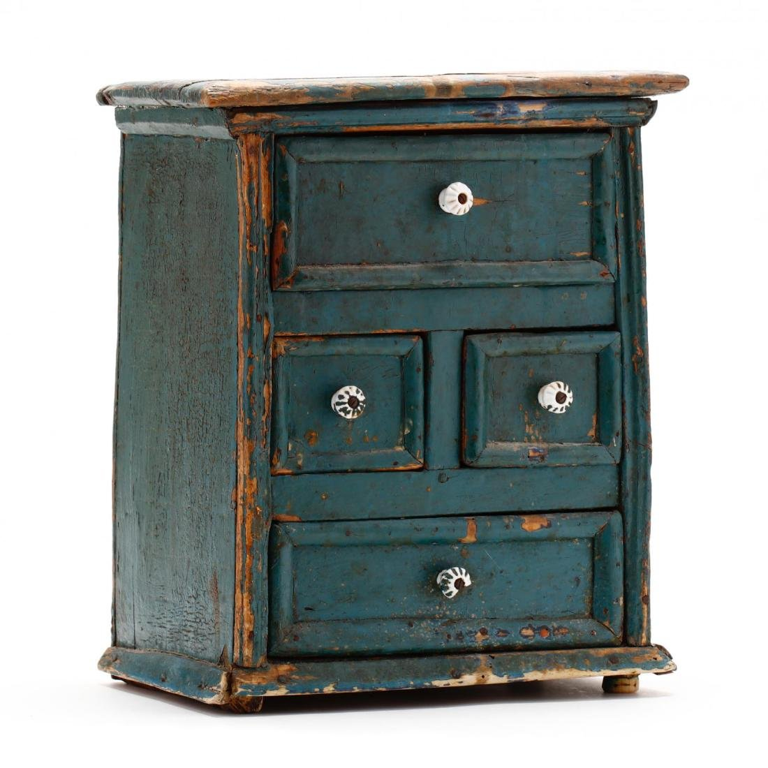 Antique Continental Painted Spice Cabinet