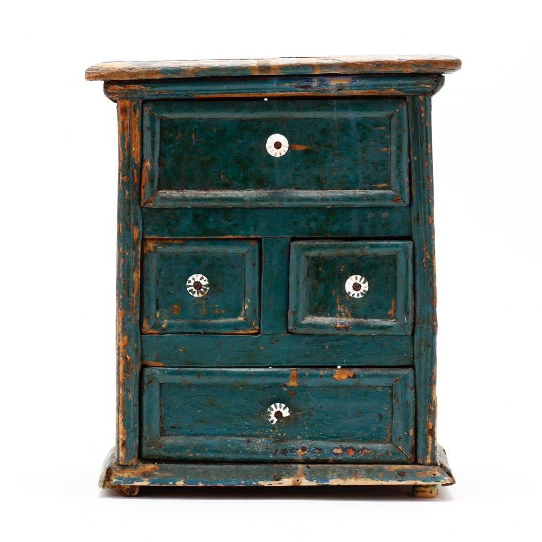 Antique Continental Painted Spice Cabinet - 2