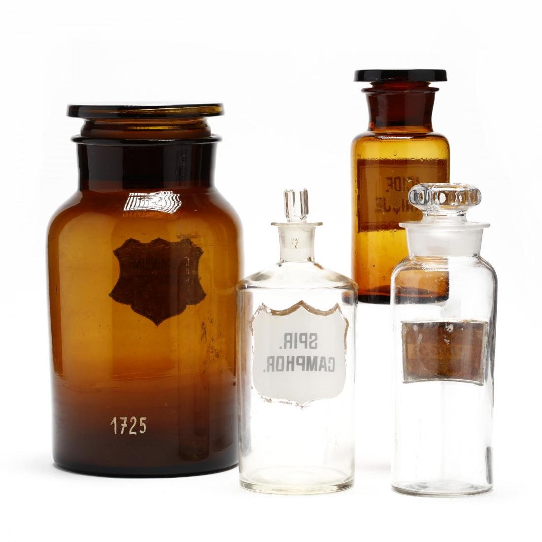 Four Antique Apothecary Bottles - 2
