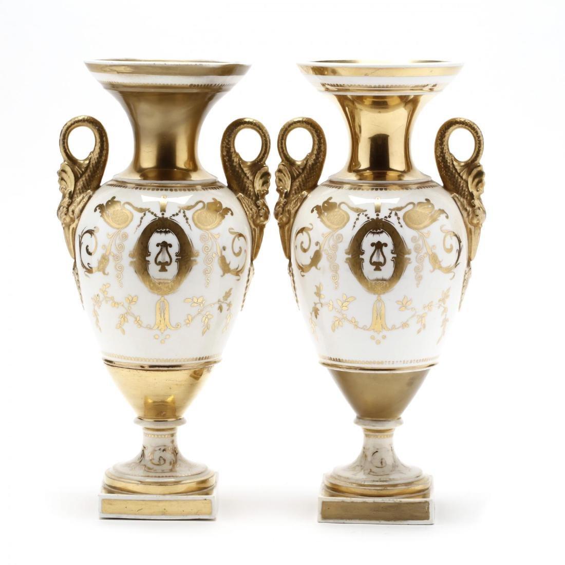 Pair of Early Swansea Gilt Vases - 2