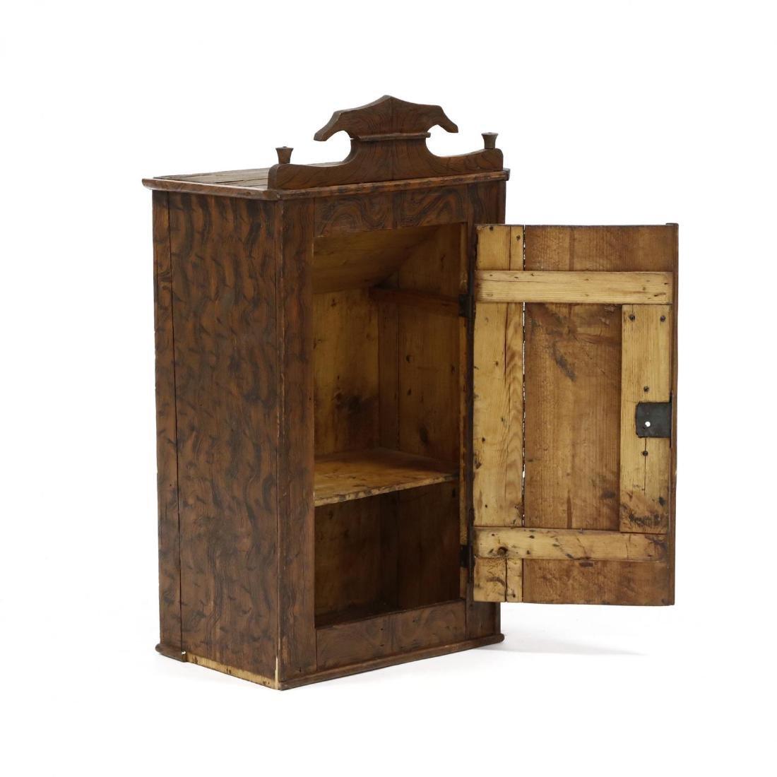 Antique Grain Painted Hanging Cabinet - 2