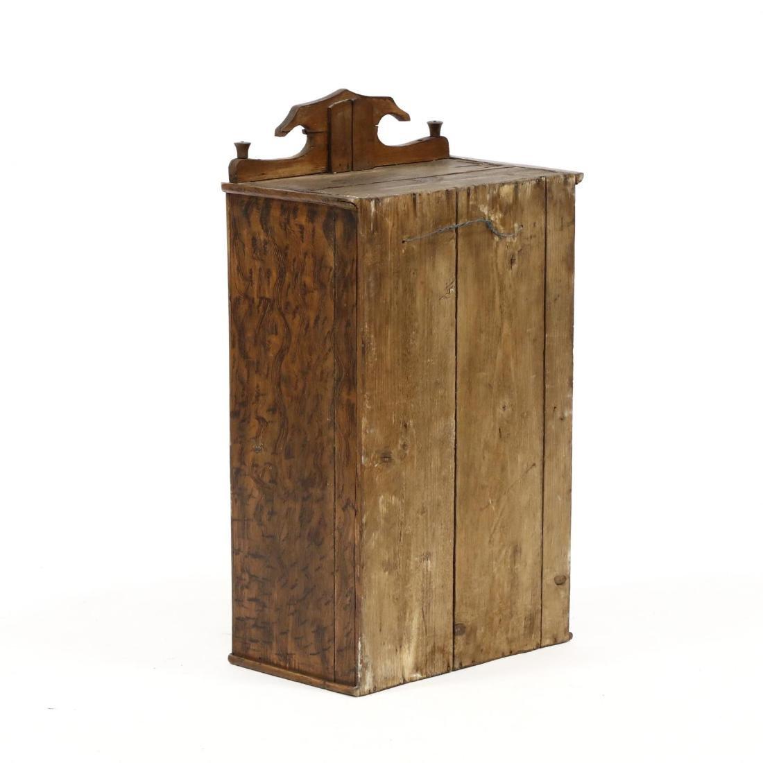 Antique Grain Painted Hanging Cabinet - 3