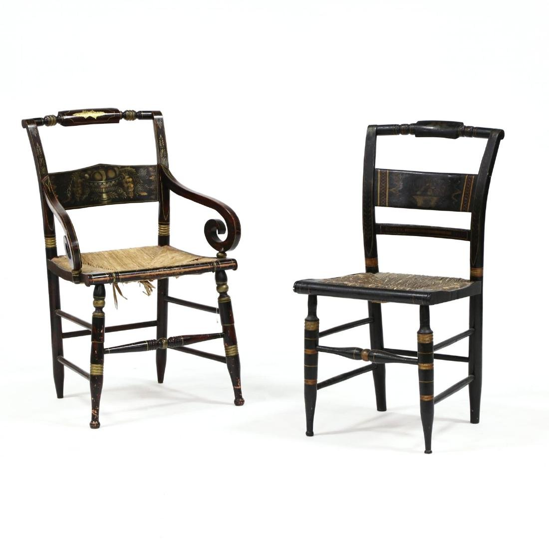 Two Antique Hitchcock Chairs