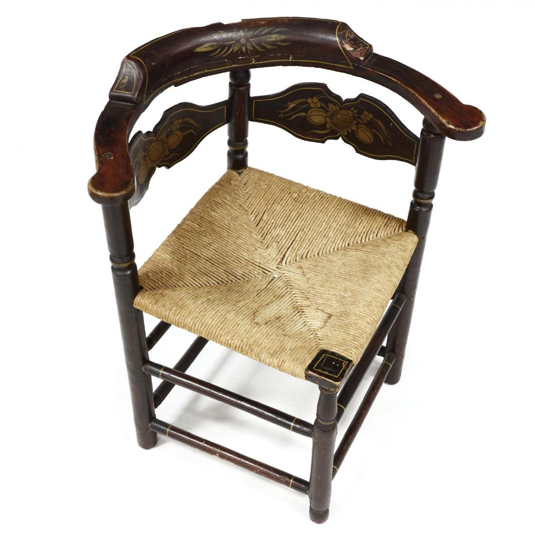 Antique Hitchcock Corner Chair - 2