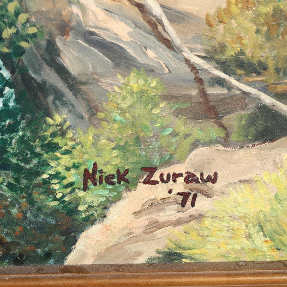 Nick Zuraw (20th Century), Landscape with Babbling - 2