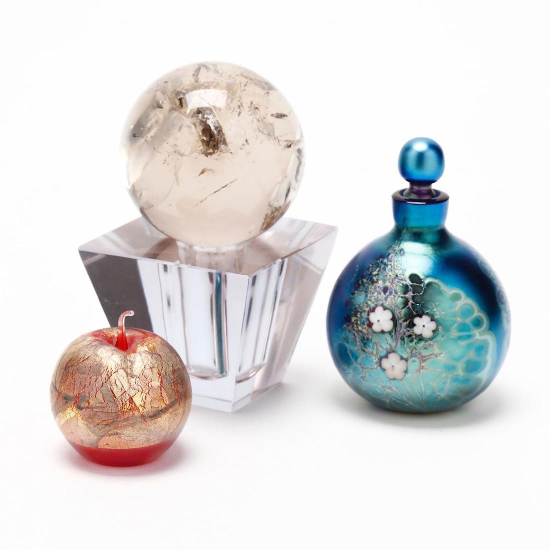 Three Art Glass Objects