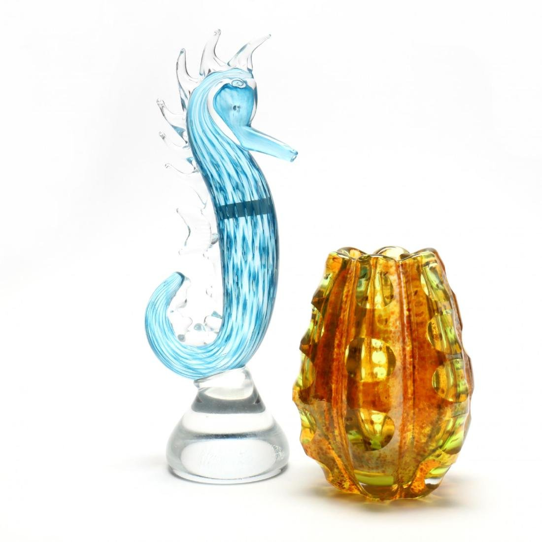 Two Evolution by Waterford Art Glass Sculptures