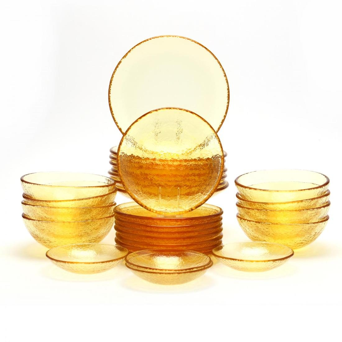 "A Set of ""Fire and Light"" Glass Tableware - 4"