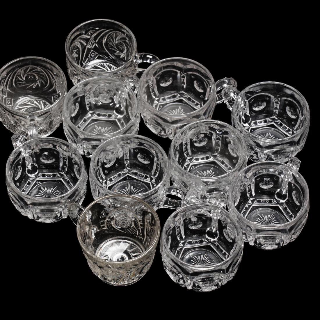 Vintage Pressed Glass Punch Bowl Set - 3