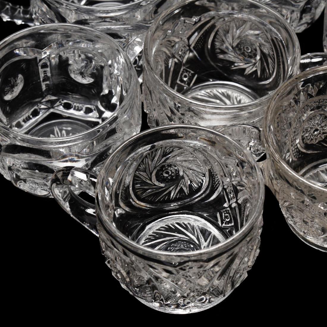 Vintage Pressed Glass Punch Bowl Set - 5