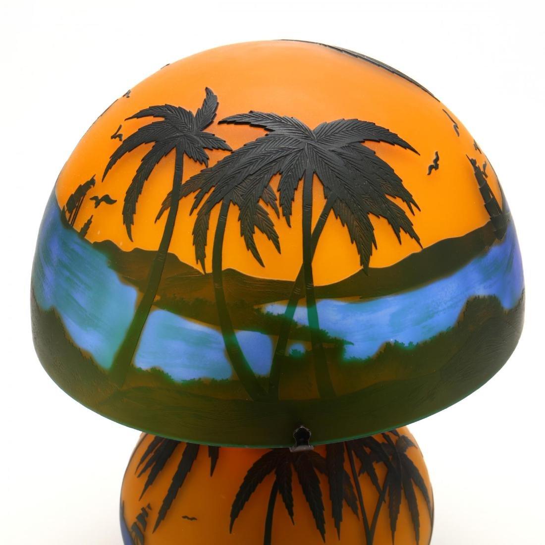 after Gallé, Cameo Glass Table Lamp - 2