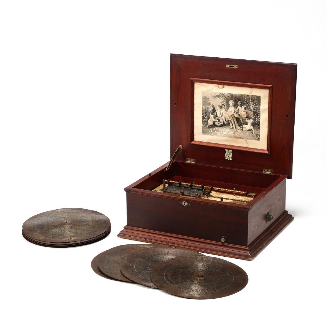 Imperial Symphonion Double Comb Disc Music Box