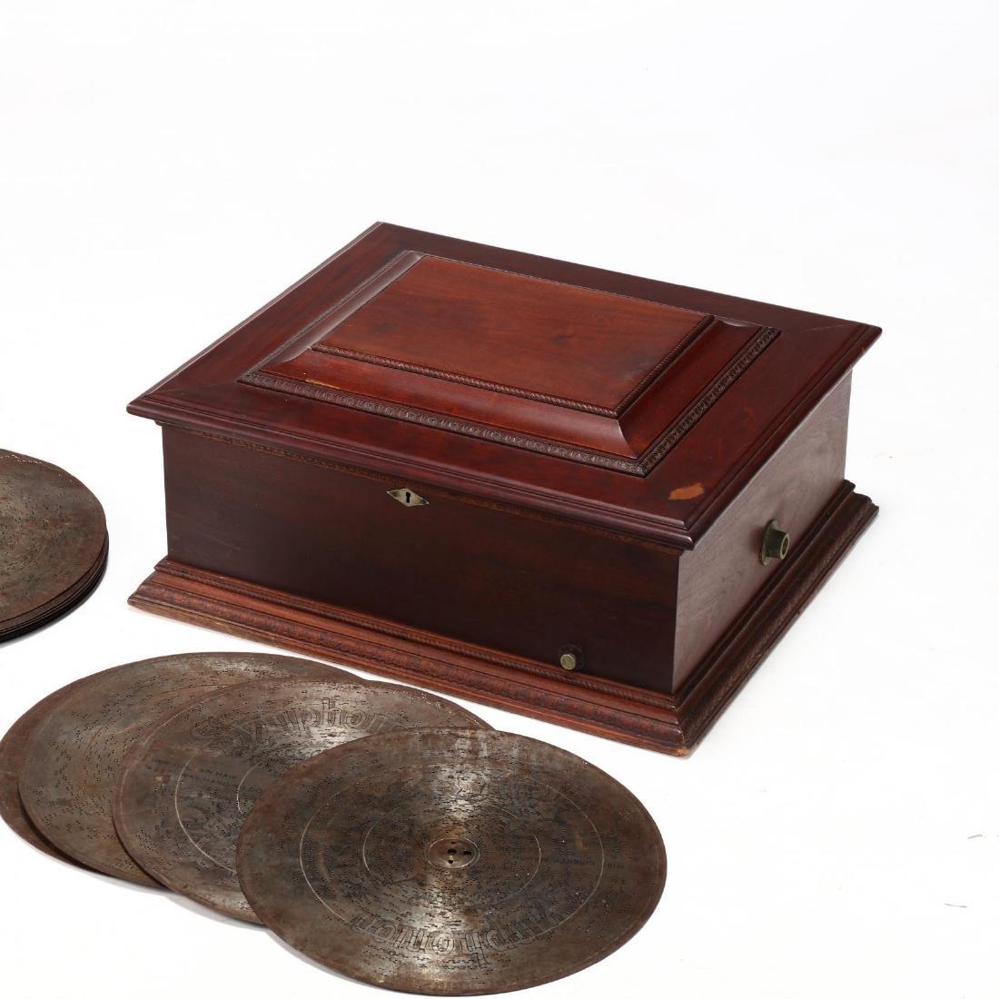 Imperial Symphonion Double Comb Disc Music Box - 4
